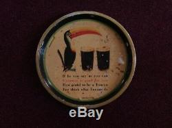Guinness Toucan Tin Tray sign 1935 Great Britain, The Metal Box Co. VERY RARE