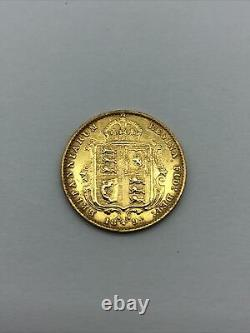 Half Sovereign Coin Victoria 1892 Shield Back RARE / COLLECTABLE COIN