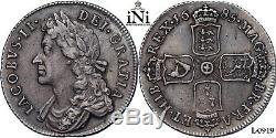 INi Great Britain, James II, Shilling 1685, toned, Rare! , aEF