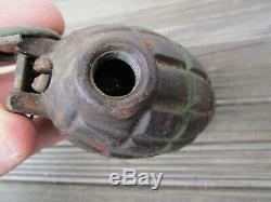 Inert Ww2 British No. 36 Mk1 Mills Pineapple Grenade Empty J. P. & S Rare 1943