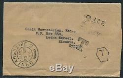 Ireland Cyprus Newspaper Wrapper Postage Due Rare Mark 1954