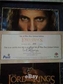 Isle Of Man Limited Edition Stamp Box LORD OF THE RINGS-RETURN OF THE KING RARE