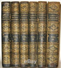 James's Naval History Of Great Britain! Extensive Fold-outs! 1837 Navy Rare! Gift