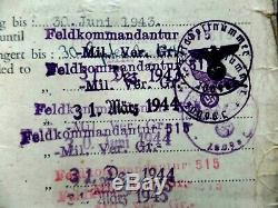Jersey German 24 Hour Curfew Pass issued by Kommandant very rare 1943-45