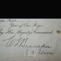 King England George V Signed Royal Document Rare Military Appointment Autograph