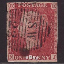 L2 GB QV 1857 1d ROSE-RED PLATE 57 IMPERFORATE SGC10k NJ FU CAT£3500 VERY RARE