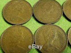 Magnificent RARE LOT of (9) 1971 British 2 Two Pence Coins UK Great Britain