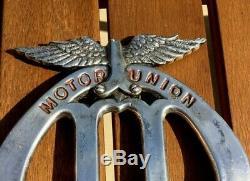 Motor Union Veteran Edwardian Full Members Early Motor Car Badge -superb Rare