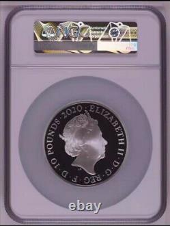NGC PF70 2020 Great Britain UK Music Legends Queen Silver Coin 5OZ COA Rare