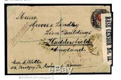 NORTH RUSSIA WARS Cover 1919 Archangel GB CENSOR Civilian Stationery RARE M255a