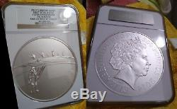 Ngc Pf70 Silver Kilo 2014 Great Britain Uk England £500 165 Minted Rare-perfect
