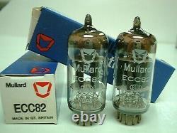 One Pair (2 pcs) NOS MULLARD 12AU7/ECC82 Audio Tubes Made in Gt. Britain RARE