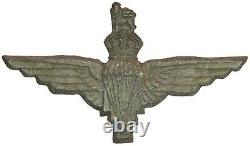 Original WWII Rare Parachute Regiment Economy Issue Bakelite Plastic Cap Badge