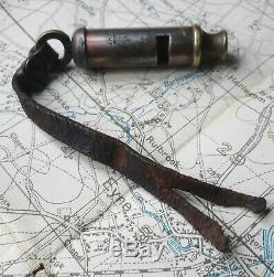 Original Ww1 Rare 1918 World War Officers Trench Whistle J Hudson British Army