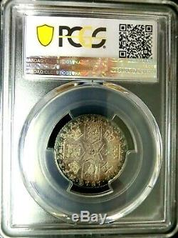 PCGS AU58 Secure-Great Britain 1787 George III Silver One Shilling RARE