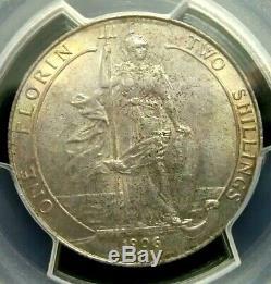 PCGS MS61 Gold Shield-Great Britain 1906 Edward VII Silver One Florin BU RARE