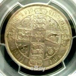 PCGS MS64+Gold Shield-Great Britain 1881 Victoria Silver Florin GEMBU RARE