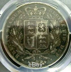 PCGS VF20 Gold Shield-Great Britain 1845 Victoria Silver One Crown RARE