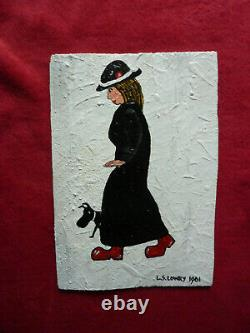 Painting of a Lady in Red Shoes, Rare Antique