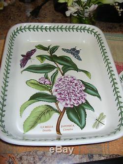 Portmeirion Botanic Garden V Rare Double Camelia (camellia) Rectangular Dish Vgc