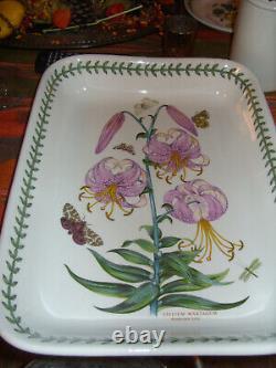 Portmeirion Botanic Garden Very Rare Austrian Lily Rectangular Dish Exc Buyitnow