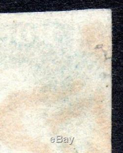 RARE 1840 TWO PENNY 2d MILKY BLUE PAIR FROM PLATE 2 WITH EXPERTISING CERTIFICATE