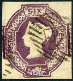 RARE 1854 Embossed 6d violet used. S. G. 61