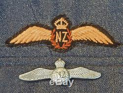 RARE 1944 Dated RNZAF Pilot's Wings METAL New Zealand Air Force TROPICAL Pattern