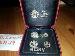 RARE 2018 Great Britain Queen Elizabeth Maundy Silver 4 Coin Set