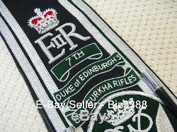 RARE British Army 2nd Bn. 7th DEO's Gurkha Rifles Regimental Drum Major's Sash