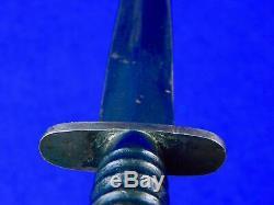 RARE British English WW2 FAIRBAIRN SYKES Fighting Knife Wood Handle with Sheath