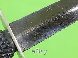RARE British English WW2 FAIRBAIRN SYKES William Rodgers Ebony Commando Knife