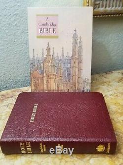 RARE Cambridge Cameo KJV Reference Bible Calfskin Leather Red Letter LNIB L@@K