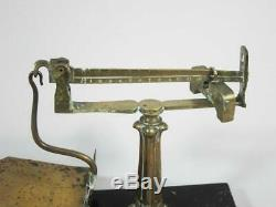 RARE EARLY 19thC SLIDING WEIGHT LETTER SCALE ANTIQUE POSTAL SCALE 1840 postage