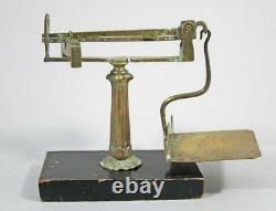 RARE EARLY 19thC SLIDING WEIGHT LETTER SCALES ANTIQUE POSTAL SCALE 1840 postage