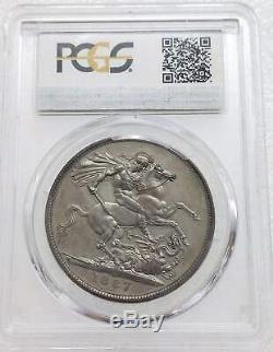 RARE Great Britain 1887 Queen Victoria Crown Silver Coin PCGS PR63