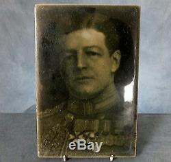 RARE LARGE WWI. TILE PLAQUE by J. H. BARRATT & Co. ADMIRAL Sir DAVID BEATTY