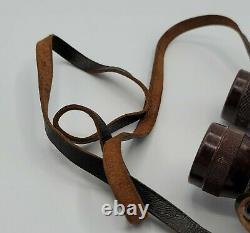 RARE Late War WWII German 6x30 Bakelite Dienstglas Binoculars OXN Busch WW2 1944
