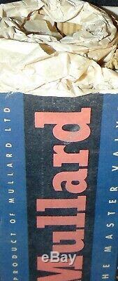RARE NOS GZ34 5AR4 Mullard Tube Great Britain FAT BOTTLE / BASE Mustard LOGO