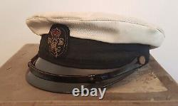RARE Naval Cap with Provenance Queens Hussars Churchills Colonel WW2