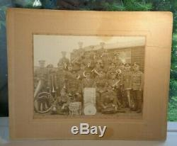 RARE OLIVE EDIS WW1 12th Reserve Btn Essex Regiment British Military Band Photo