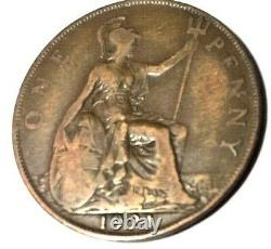 RARE, One Penny Coin George V 1921 (Key Date)