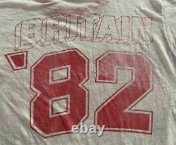 RARE Original Vintage 1982 ACDC Great Britain TOUR T SHIRT