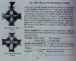 RARE QE2 Era New Zealand MEMORIAL CROSS Sterling SILVER K. I. A. Medal Kiwi ANZAC