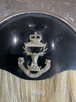 RARE RG Lawrie Bagpipe Gordon Highlanders Scottish Regiment Horse Hair Sporran