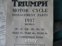 RARE TRIUMPH 6S 2H 3S 3SE 3H 5H TIGER 70 TIGER 80 TIGER 90 MOTORCYCLE TOOlKIT