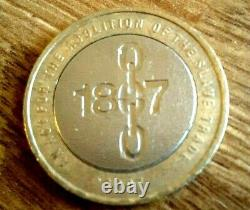 RARE TWO Pound Coin 1807 Abolition Of Slavery With 3 MINTING ERRORS