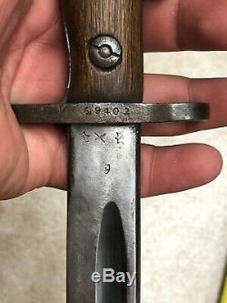 RARE Vintage Australian LITHGOW 1918 Bayonet Sword withOriginal Scabbard Sheath