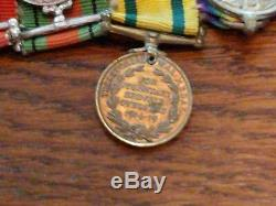 RARE WWI British Territorial Service Medals(Miniature Included). Royal Engineers