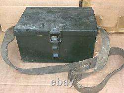 RARE WWII Vickers Machine Gun MKII dial sight & original box with carry strap